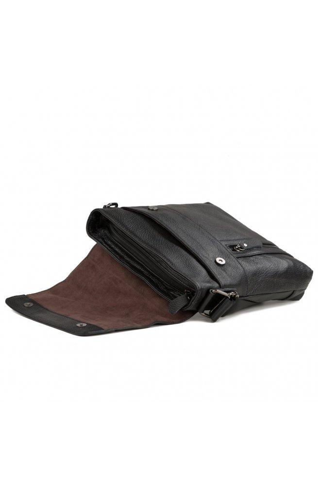 Мессенджер Tiding Bag M38-1713A - Натуральна шкіра, чорний