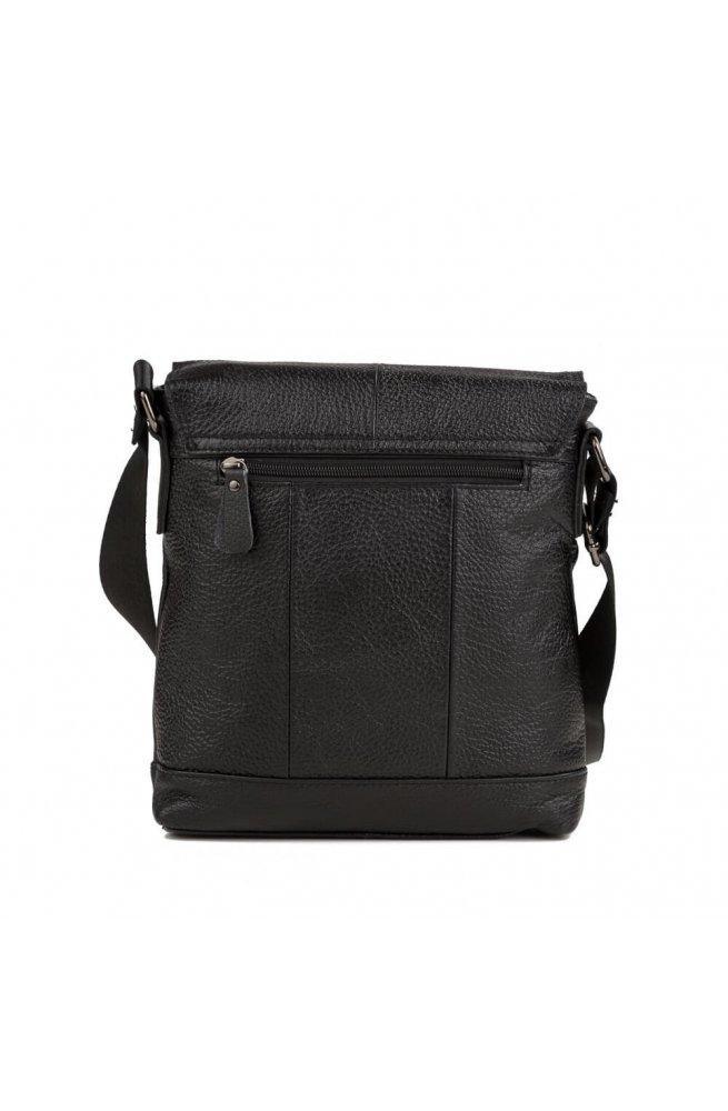 Мессенджер Tiding Bag M38-8136A - Натуральна шкіра, чорний
