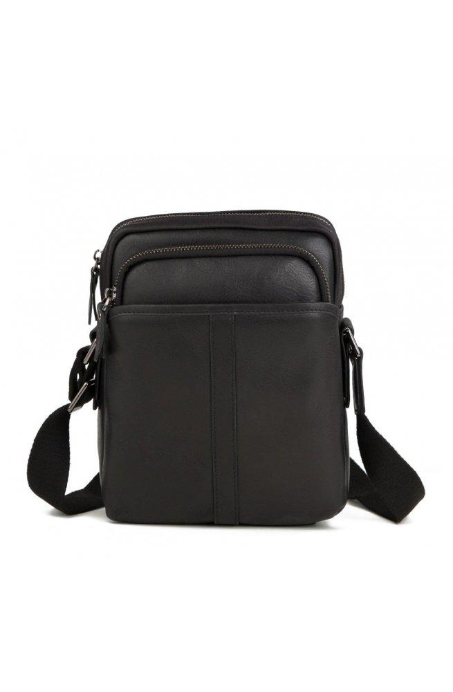 Мессенджер Tiding Bag M47-21109-1A - Натуральна шкіра, чорний