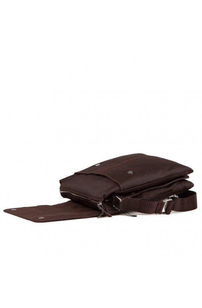 Мессенджер Tiding Bag A25-064C - Натуральна шкіра, коричневий