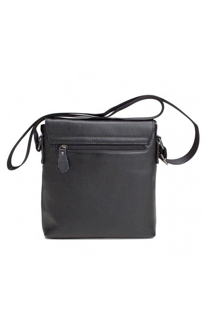 Мессенджер Tiding Bag A25-238-1A - Натуральная кожа, черный