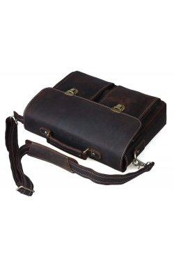 Портфель мужской. Цвет тёмно-коричневый.