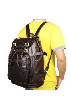 Рюкзак кожаный TIDING BAG 6085C