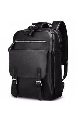 Рюкзак Tiding Bag B3-1691A - Натуральная кожа, чёрный