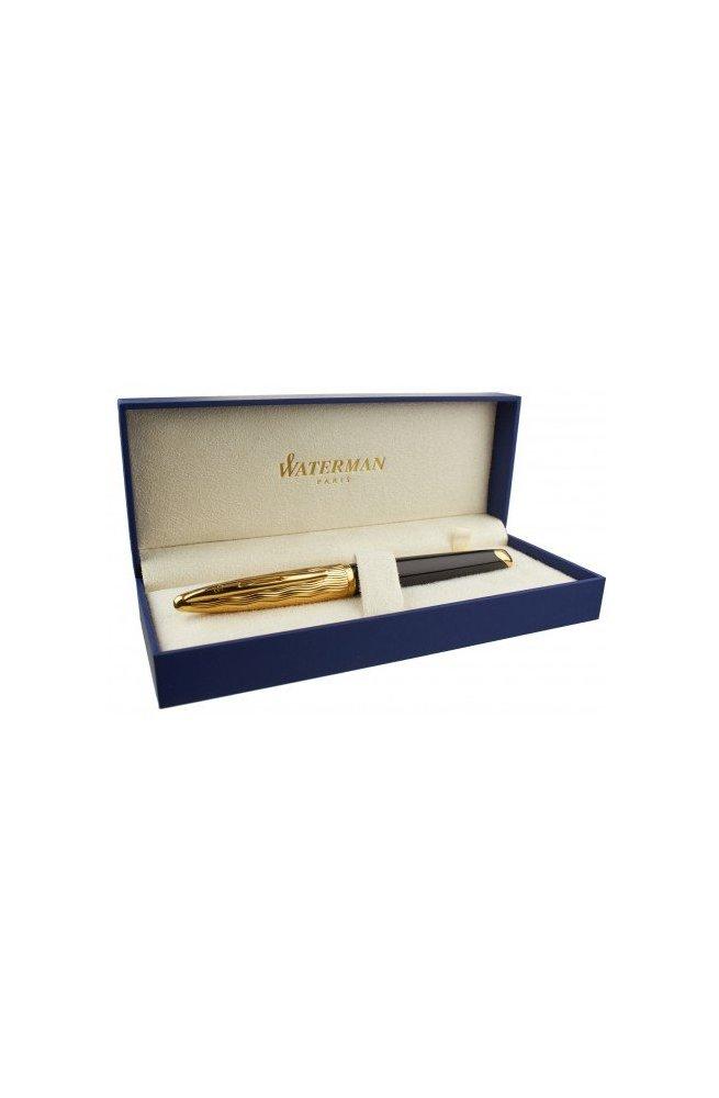 Перьевая ручка Waterman CARENE Essential Black/Gold FP 11 204, Корпус - Черный, Франция