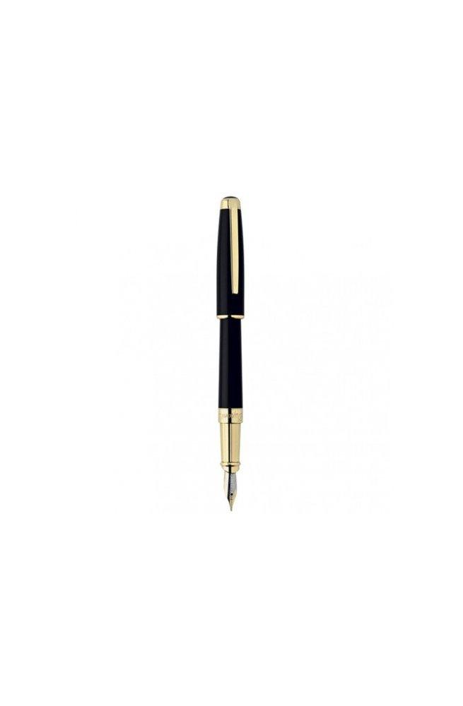 Перьевая ручка ST Dupont Olympio L Black Ch.Lacquer GP FP Du480574m, Корпус - Черный, Франция