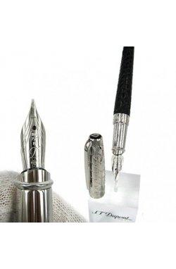 Перьевая ручка ST Dupont Olympio L Duotone Leather Black PP FP Du480851m