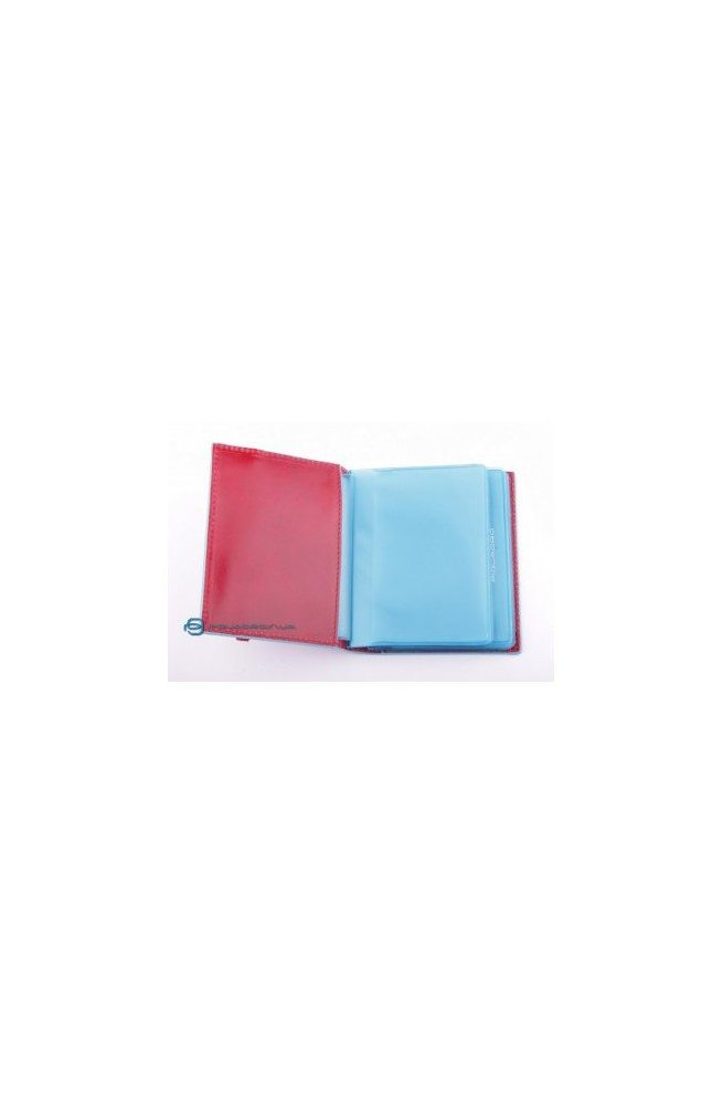 Кредитница Piquadro blue square для 20 кред. карт (9х10,5) PP1395B2_R, Италия