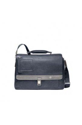 Портфель Piquadro VIBE/Blue-Grey с отдел. д/ноутбука (41x30,5x13)