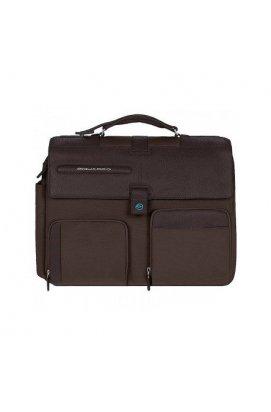 Портфель Piquadro SIGNO на два отделения со съемным чехлом для ноутбука (42x33x11)