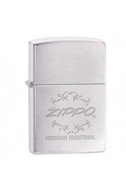 Зажигалка Zippo Classics American Traditional Brushed Chrome Zp199755