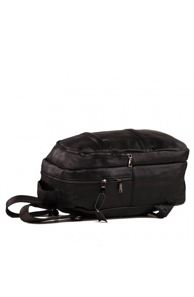 Рюкзак кожаный Tiding Bag A25-333A - Натуральная кожа, черный
