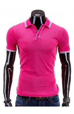 Поло мужское. Цвет розовый.