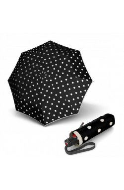 Складной зонт Knirps T.100 Small Duomatic Dot Art Black Kn9531004901