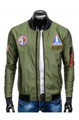 Куртка бомбер мужская демисезонная K351 - olive