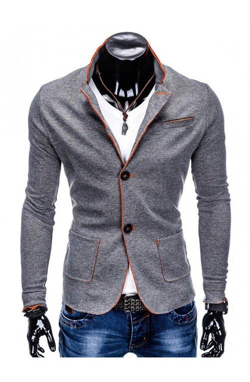 Мужской кэжуал пиджак P90 - dark grey