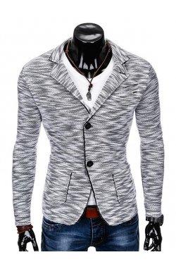 Піджак чоловічий кежуал M89 - сірий