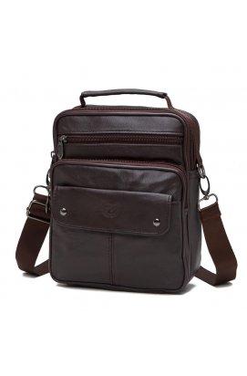 Мессенджер HD Leather NM24-212C - Натуральная кожа, коричневый