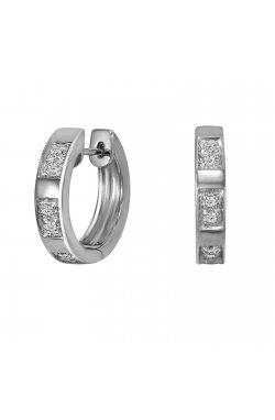 Серьги из белого золота с бриллиантами (012631)
