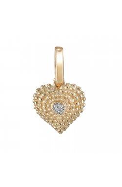Кулон из желтого золота с бриллиантом (324457)