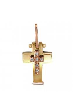 Кулон из желтого золота с бриллиантами (853870)