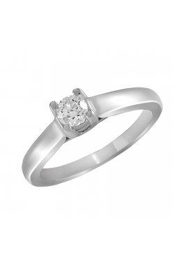 Кольцо из белого золота с бриллиантом