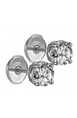Серьги из белого золота с бриллиантами (013070)