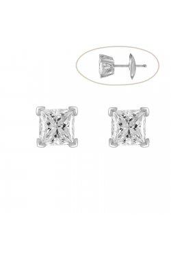 Серьги из белого золота с бриллиантами (074951)