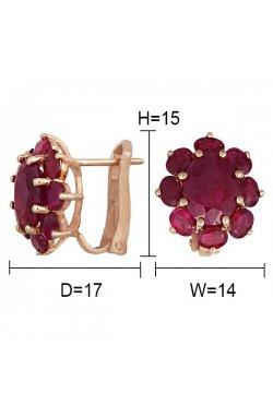 Серьги из красного золота с рубинами (103397)