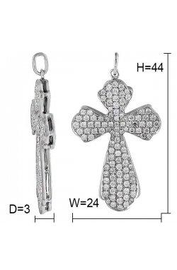 Кулон из белого золота с бриллиантами (123318)