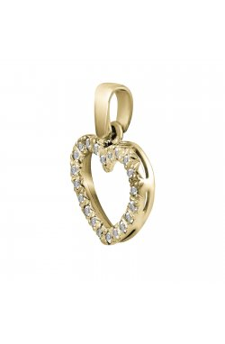 Кулон из желтого золота с бриллиантами (558184)