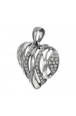 Кулон из белого золота с бриллиантами (008953)
