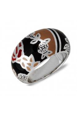 Кольцо из серебра с лаком
