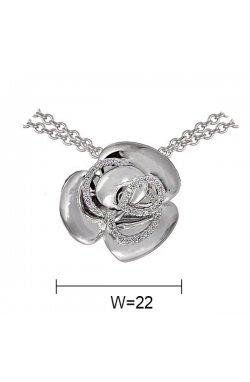 Кулон из серебра с куб. циркониями (059567)