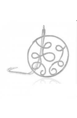 Кулон из серебра с куб. циркониями (073496)