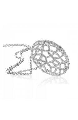 Кулон из серебра с куб. циркониями (073498)