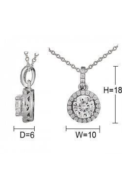Кулон из серебра с куб. циркониями (073497)