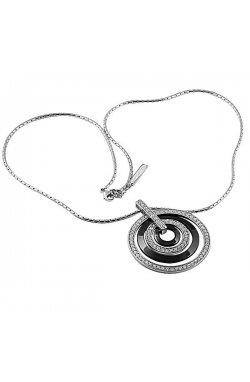 Кулон из серебра с куб. циркониями (078170)