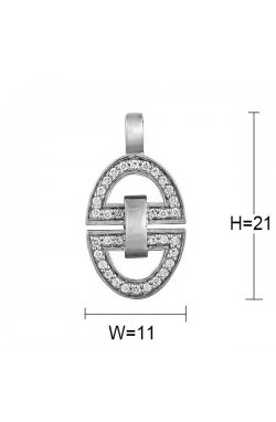 Кулон из серебра с куб. циркониями (078172)