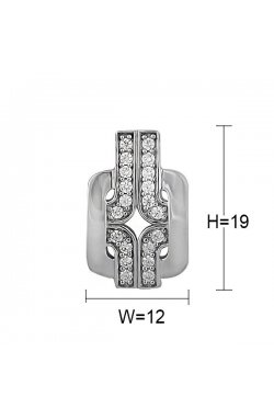 Кулон из серебра с куб. циркониями (078177)