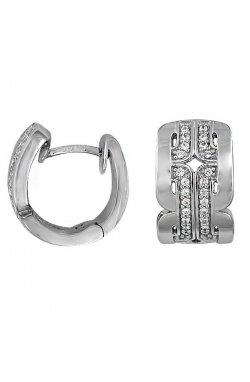 Серьги из серебра с куб. циркониями (078182)