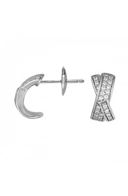 Серьги из серебра с куб. циркониями (078186)