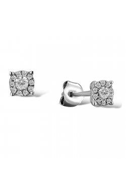 Серьги из белого золота с бриллиантами (1554556)