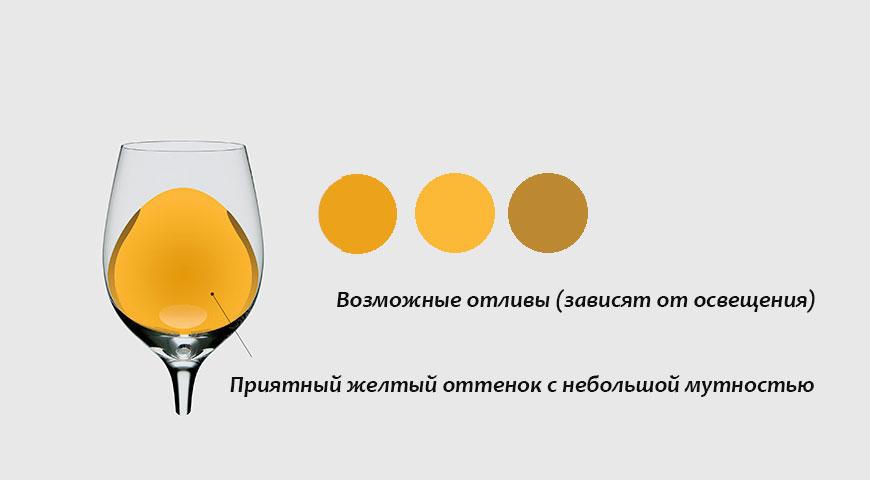 Как выбрать вино: желтый оттенок вина