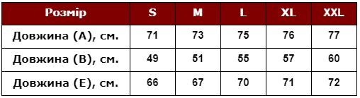 Таблица размеров свитшотов, свитеров с оленями мужских